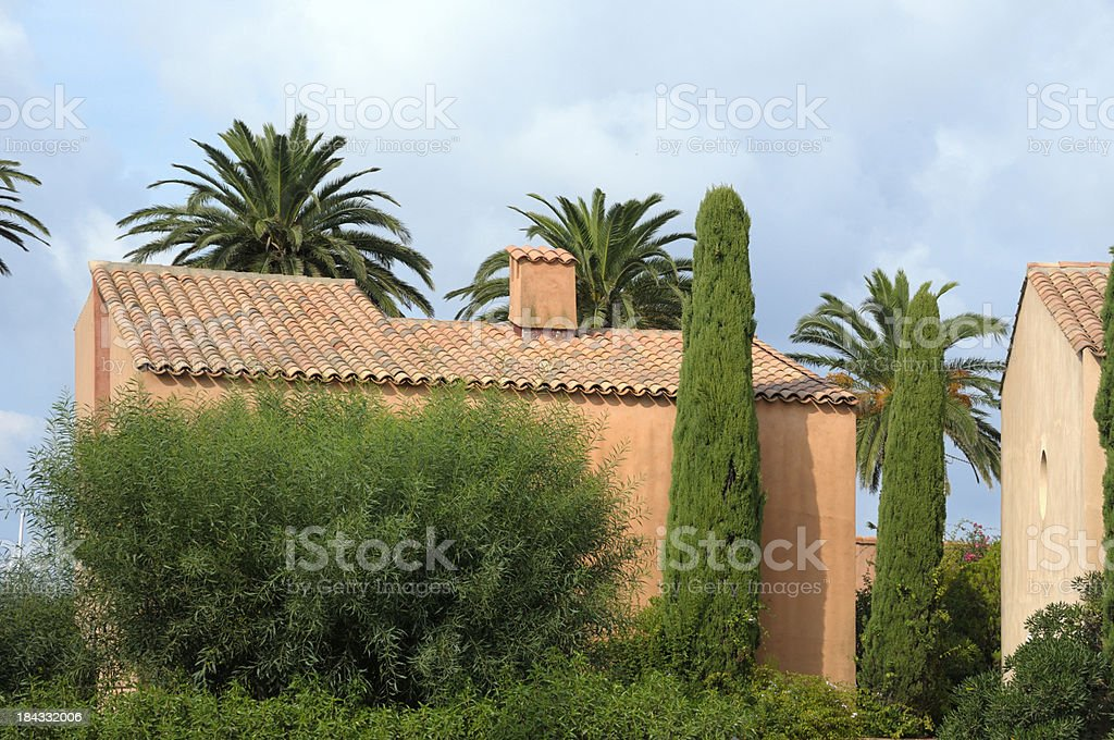 Mediterranean houses stock photo