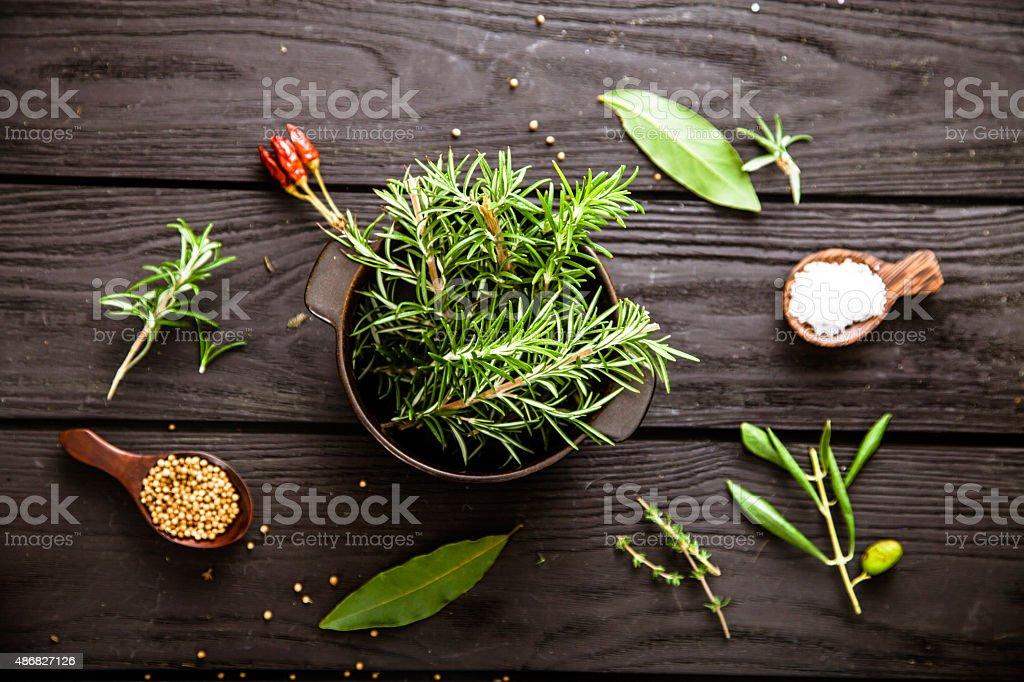 Mediterranean ingredients stock photo
