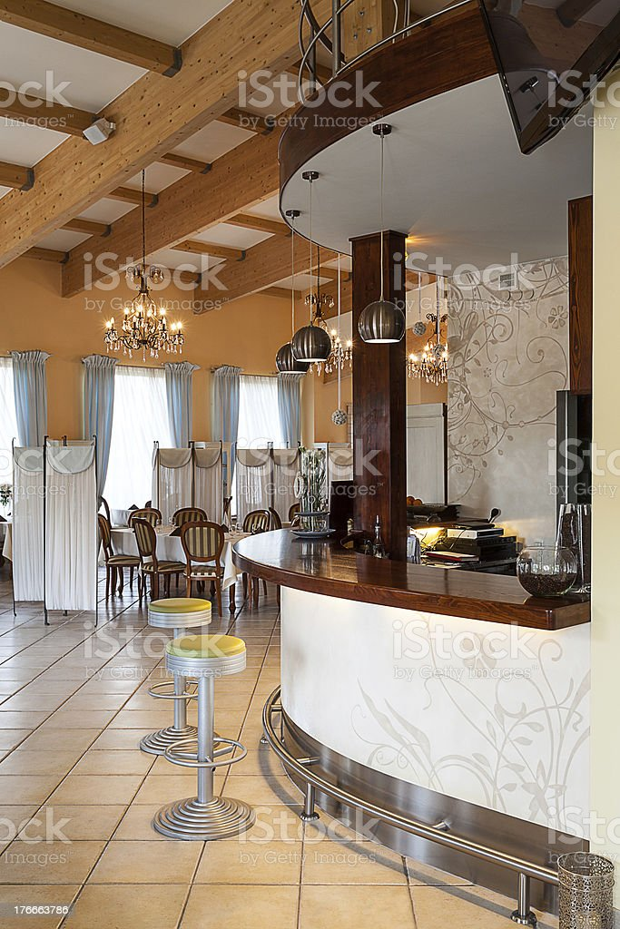Mediterranean interior - bar royalty-free stock photo