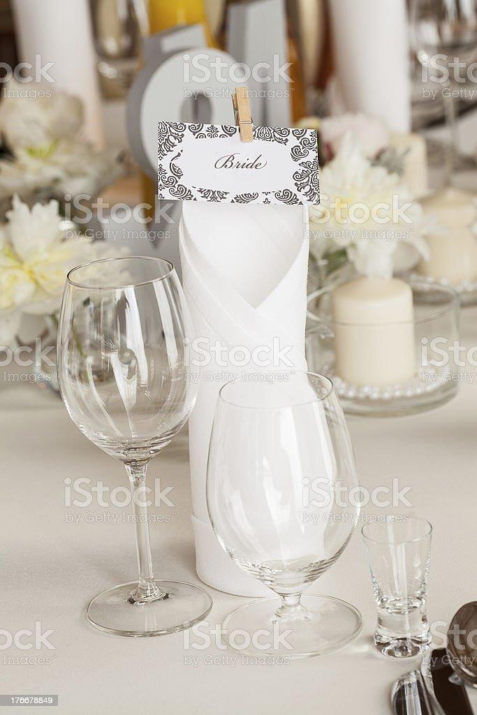 Mediterranean interior - bride royalty-free stock photo