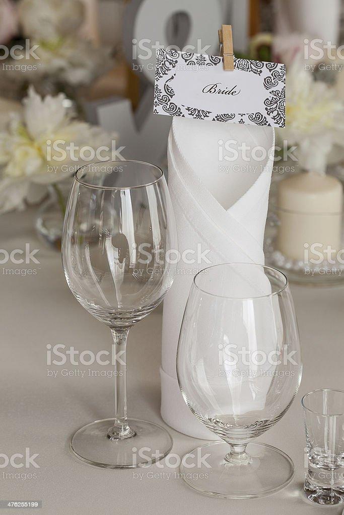 Mediterranean interior - bride's set royalty-free stock photo