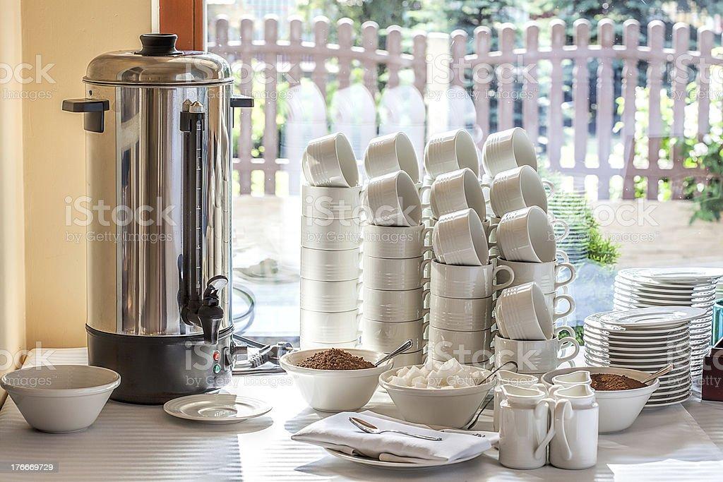 Mediterranean interior - coffee maker royalty-free stock photo