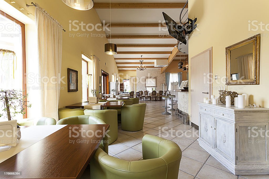 Mediterranean interior - elegant corridor royalty-free stock photo