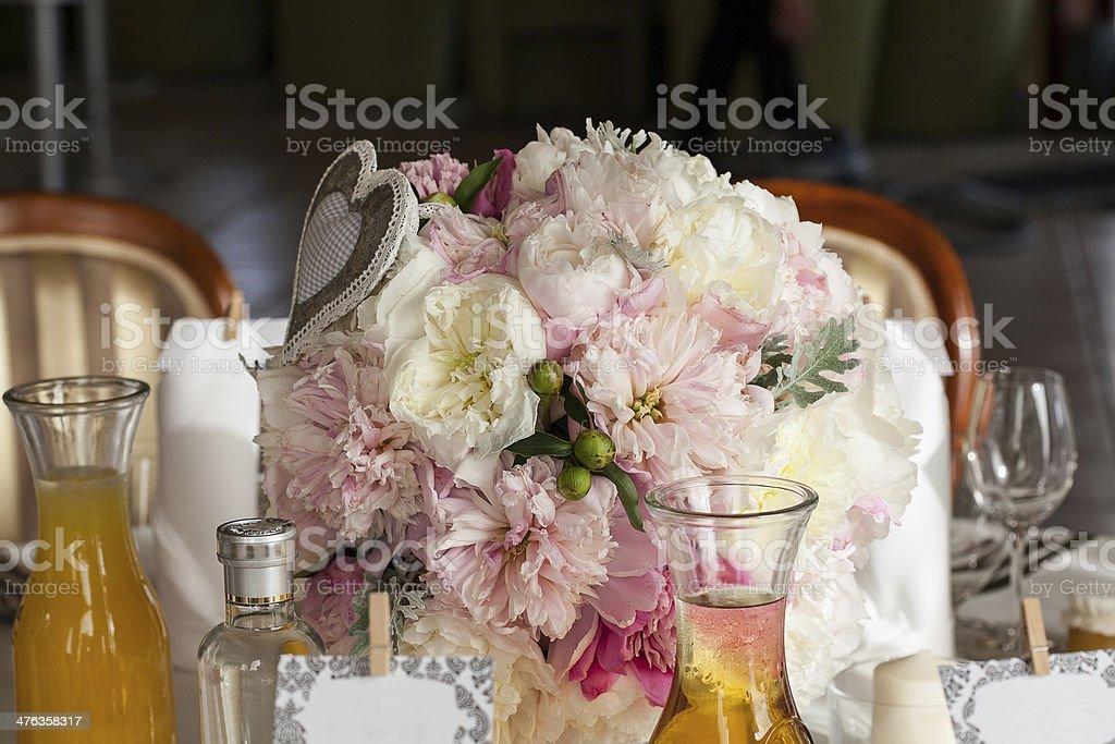 Mediterranean interior - table ornaments royalty-free stock photo