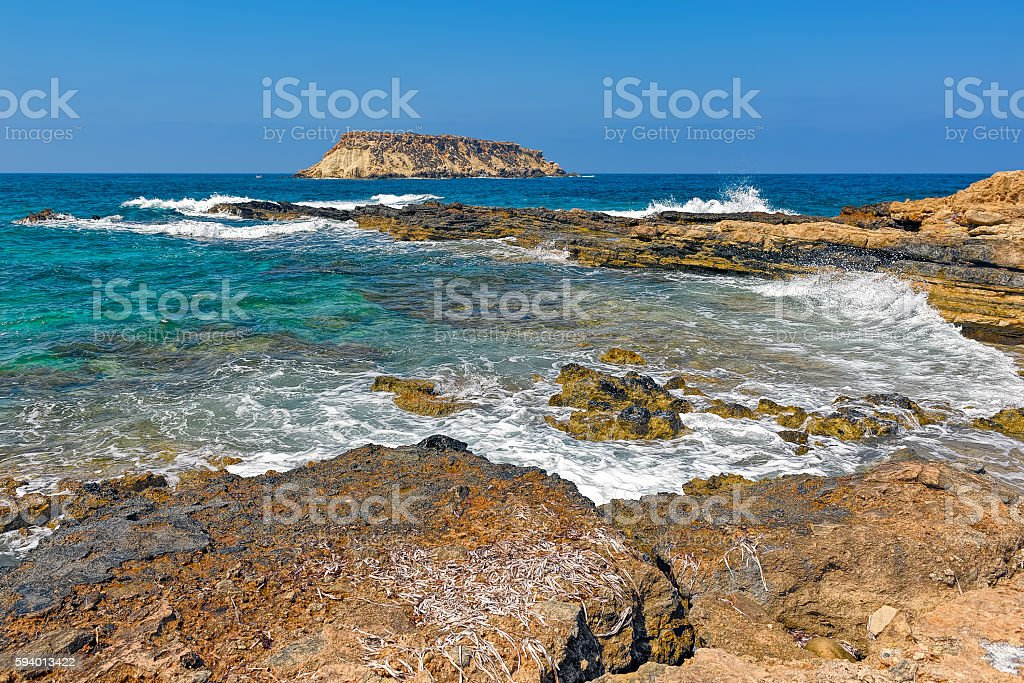 Mediterranean island Geronisos stock photo
