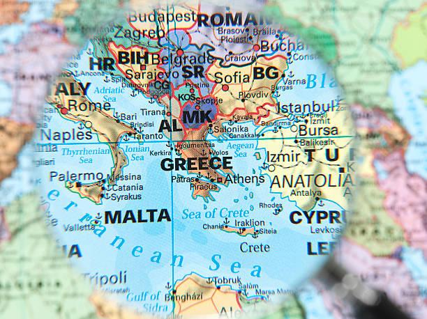 mediterranean map stock photo