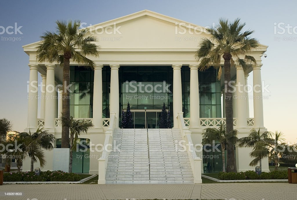 Mediterranean neo-classic building royalty-free stock photo