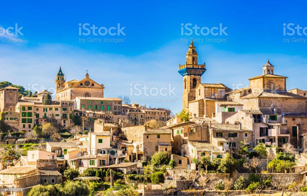 Mediterranean old village of Valldemossa on Majorca, Spain stock photo