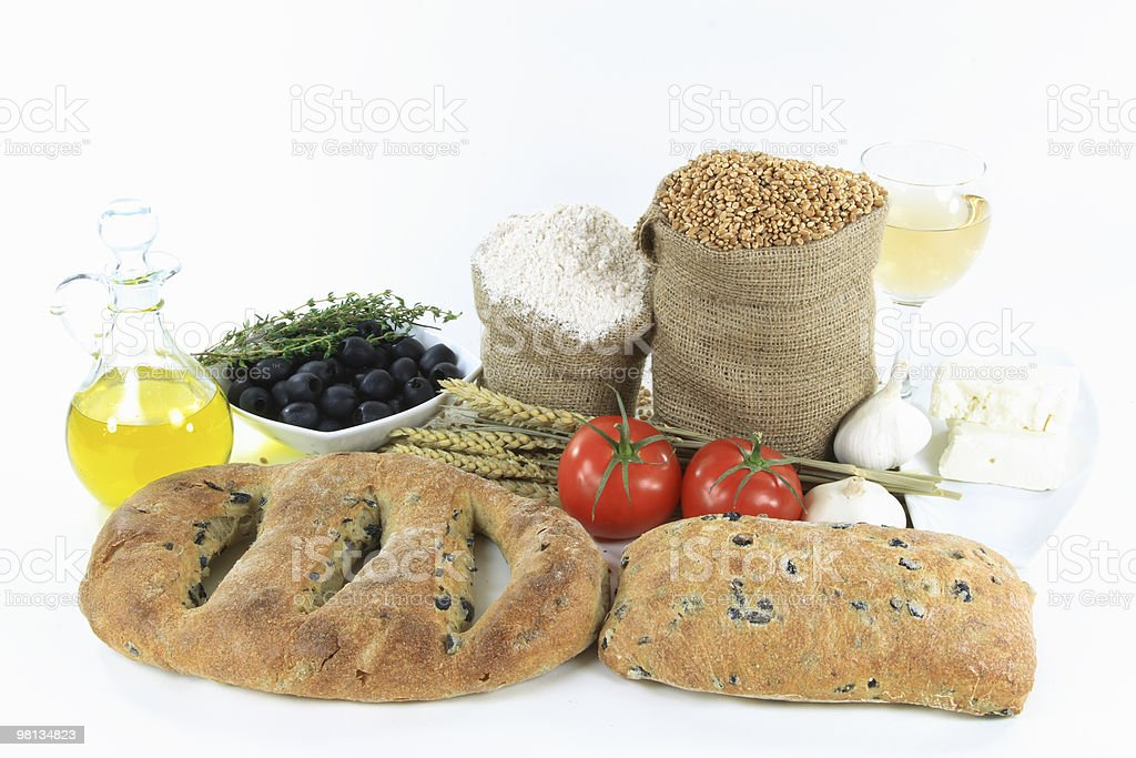 Mediterranean olive breads and food products. royalty-free stock photo