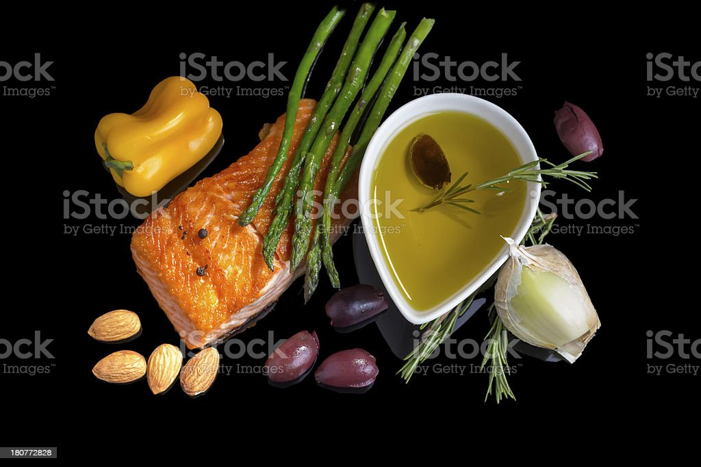 Mediterranean omega-3 diet. stock photo