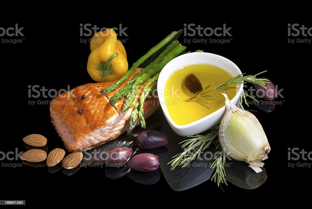 Mediterranean omega-3 diet. stock photo