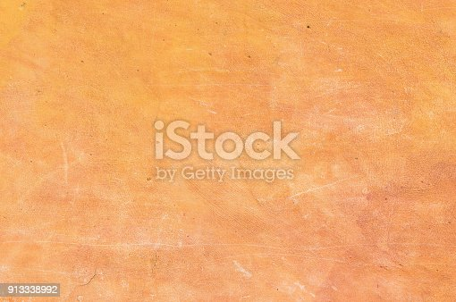 Old mediterranean stucco wall background texture with copy space