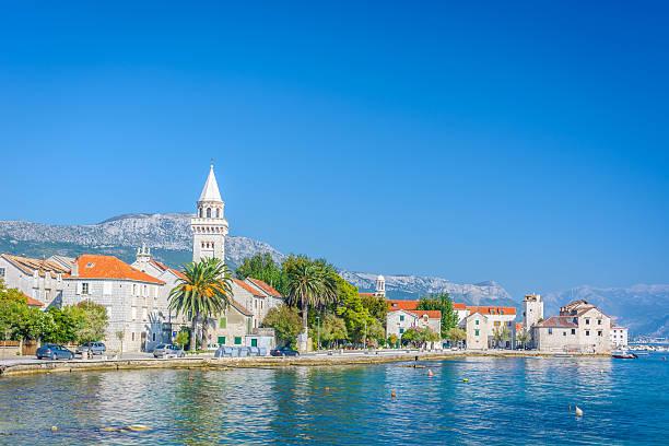 Mediterranean promenade Kastela town. – Foto