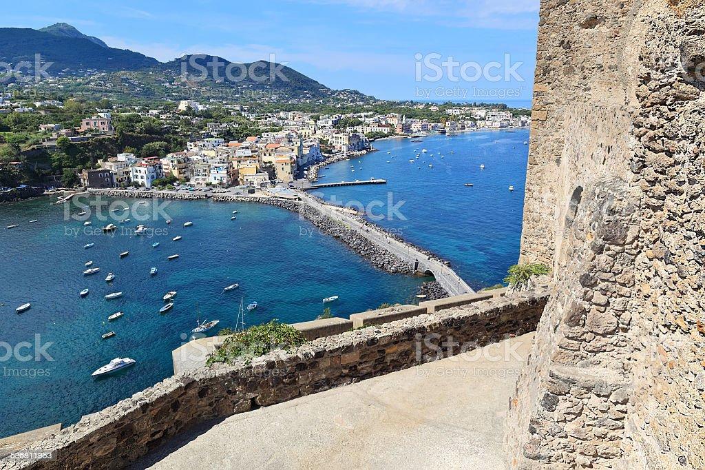 Mediterranean resort Ischia Ponte, Ischia island - Italy stock photo