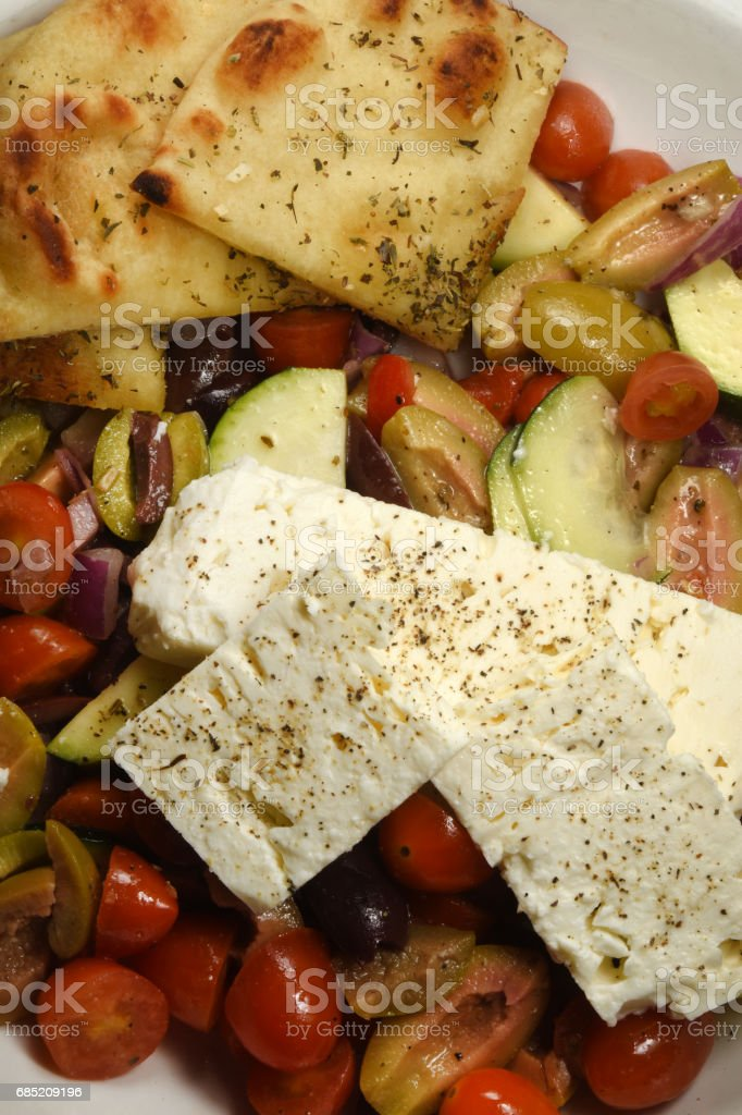 Mediterranean Salad Above foto de stock royalty-free