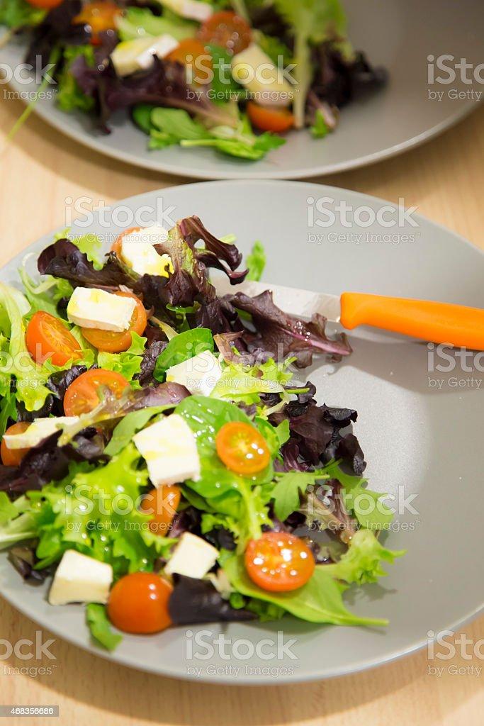 Mediterranean salad close up royalty-free stock photo