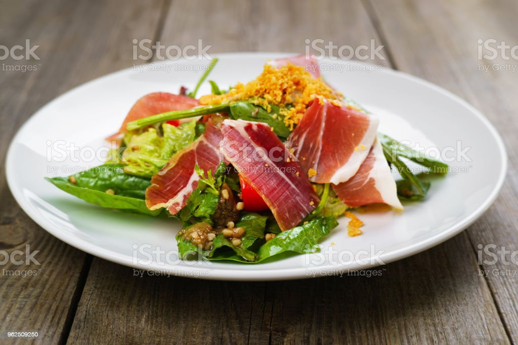 Mediterranean salad of prosciutto and vegetables - Royalty-free Appetizer Stock Photo