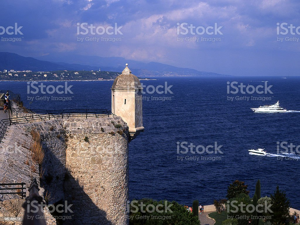 Mediterranean Sea and Riviera coast from Monaco royalty-free stock photo
