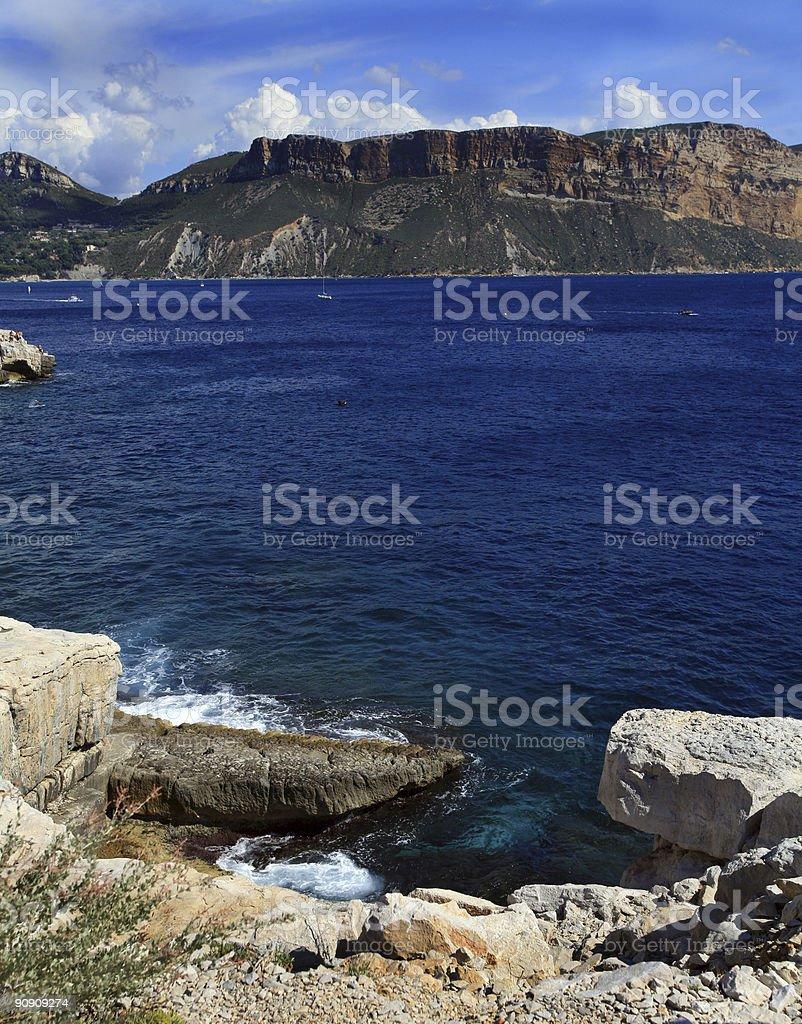Mediterranean Sea French Riviera royalty-free stock photo