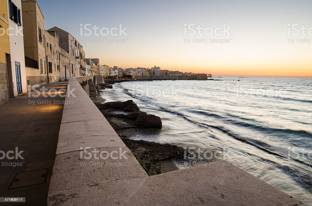 Mediterranean sea in the Trapani, Sicily stock photo