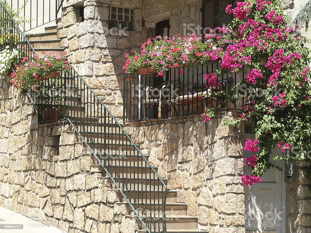 Mediterranean Stairs royalty-free stock photo