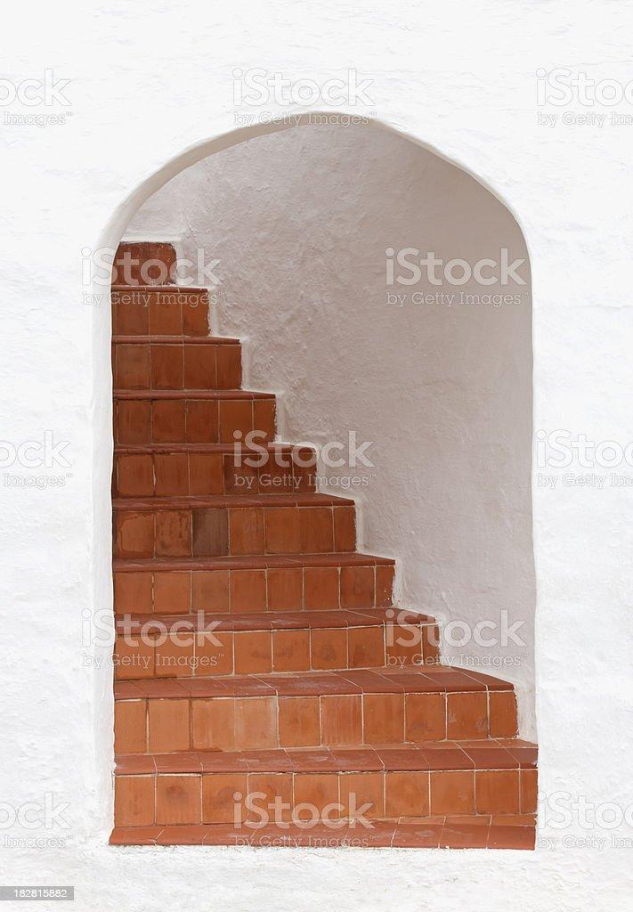 Mediterranean stairway stock photo