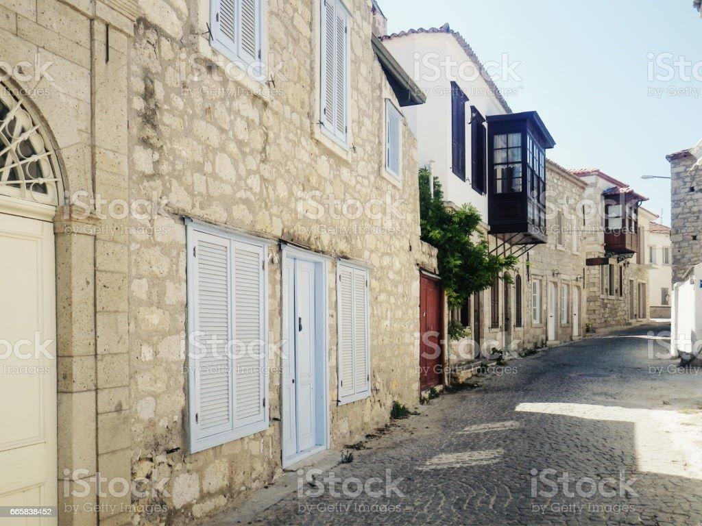 mediterrane straat foto