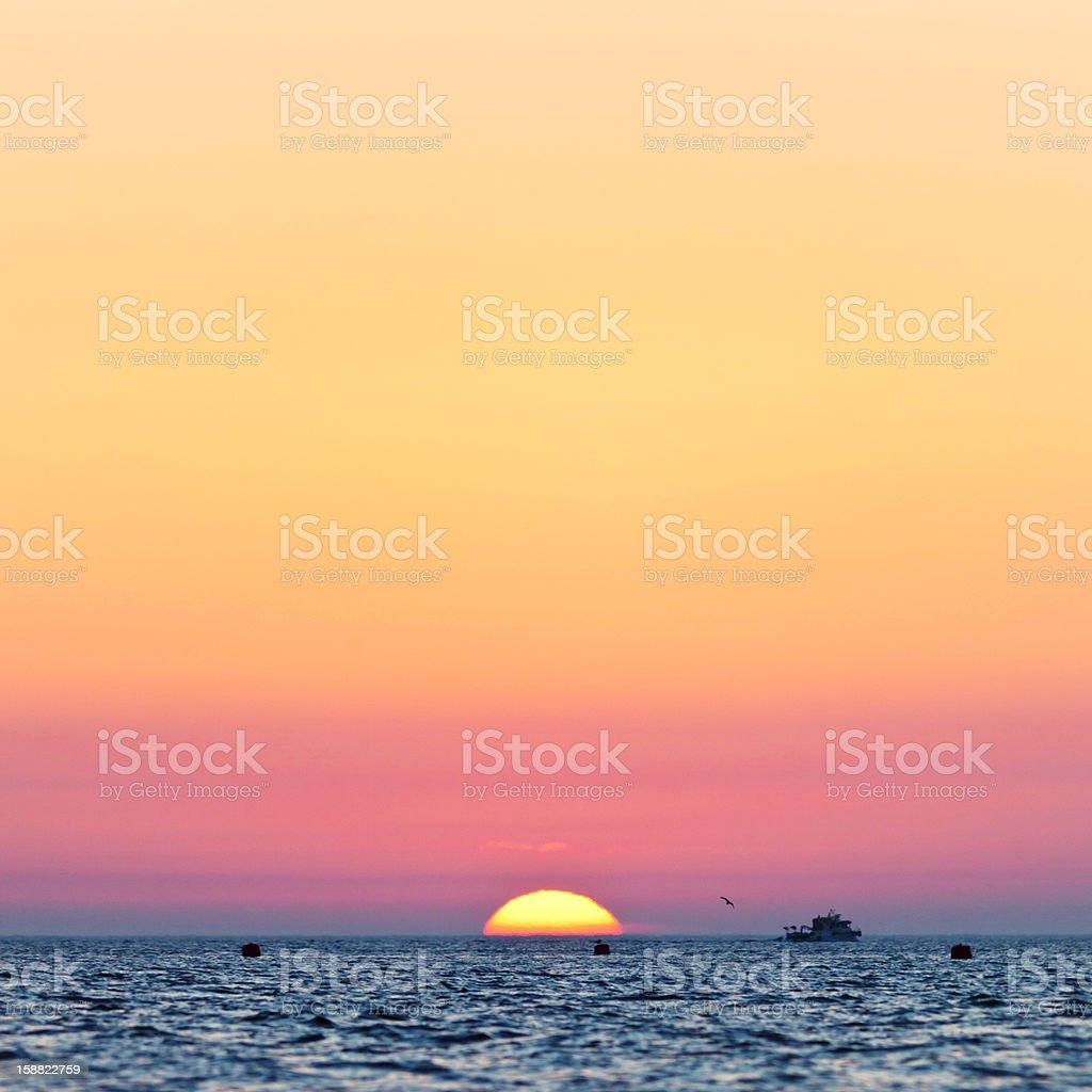 mediterranean sunset stock photo