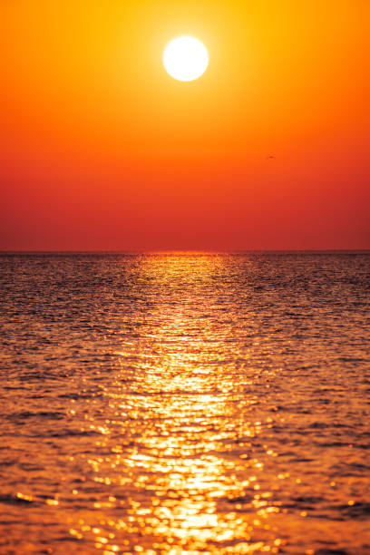 Mediterranean sunset - Sicily stock photo