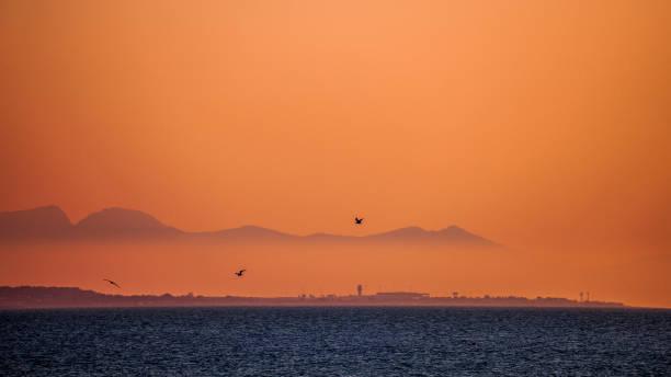 Mediterranean sunset - Sicily stock photo