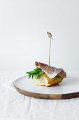 istock Mediterranean tapas delicious ham with lettuce 1224107492