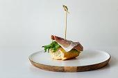 istock Mediterranean tapas delicious ham with lettuce 1224107509