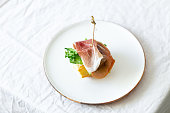 istock Mediterranean tapas delicious ham with lettuce 1224107549