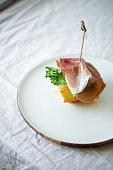 istock Mediterranean tapas delicious ham with lettuce 1224107576