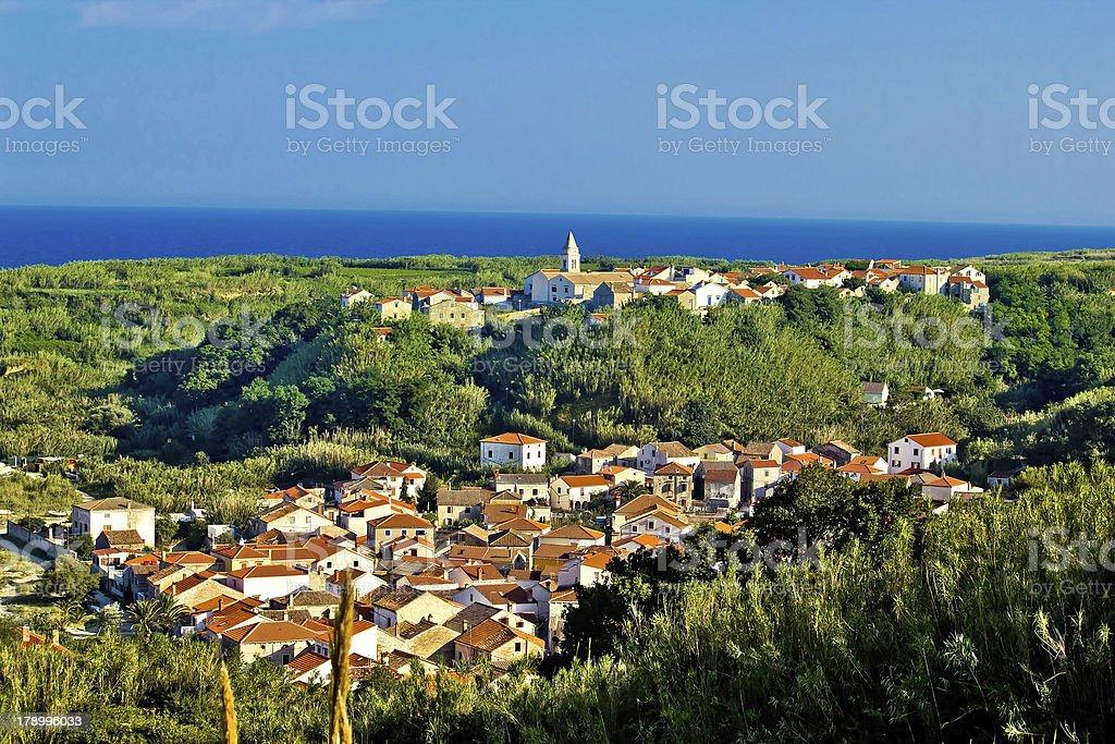 Mediterranean town of Susak, Croatia royalty-free stock photo