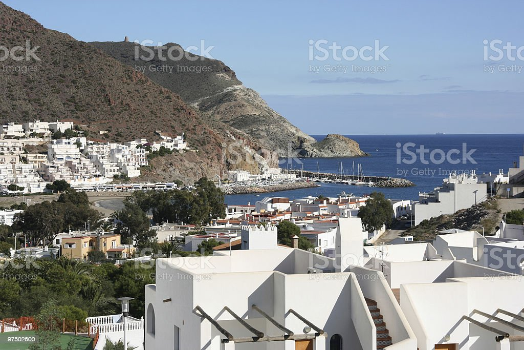 Mediterranean town royalty-free stock photo