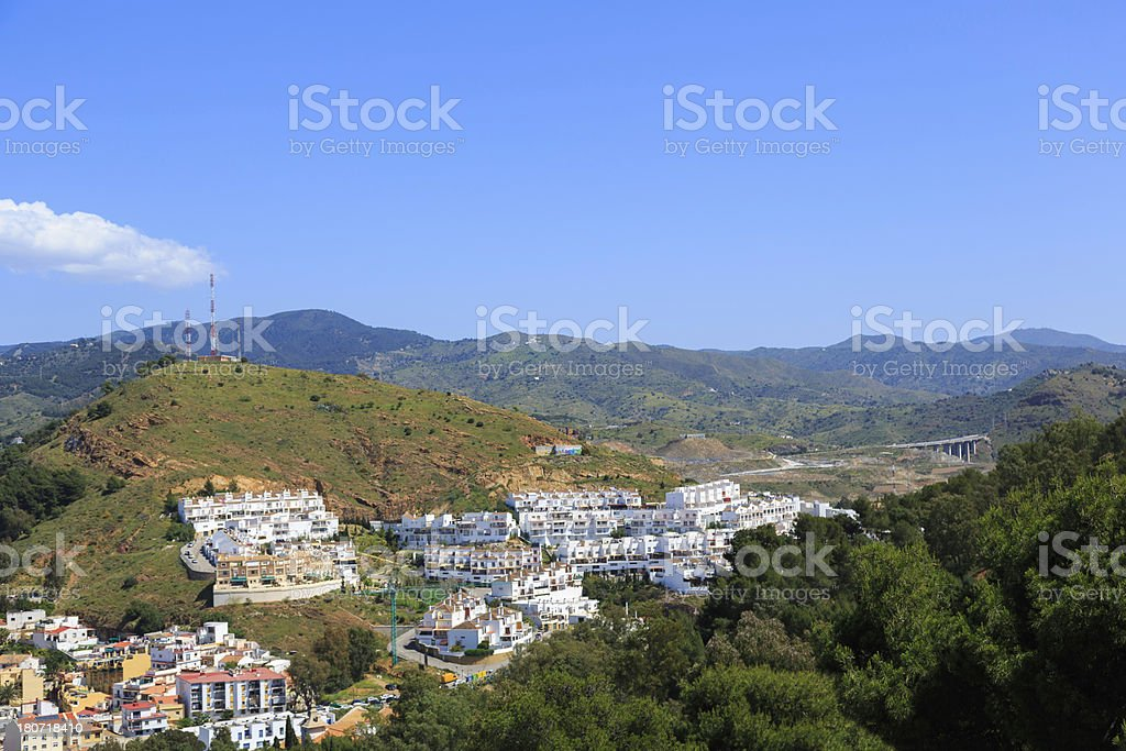 Mediterranean town view royalty-free stock photo