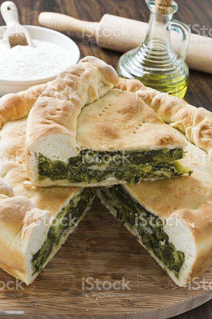 Mediterranean vegetable pie. stock photo