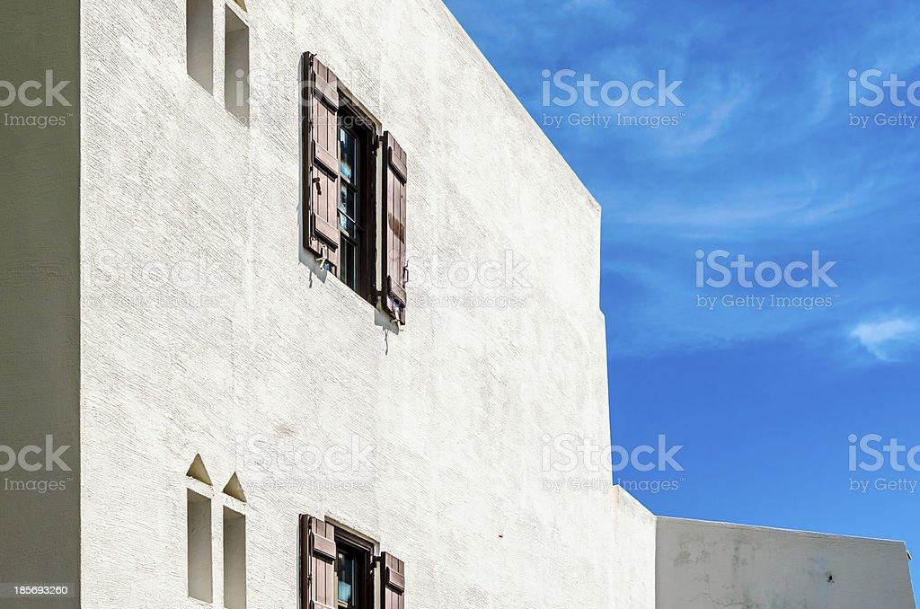 mediterranean white building royalty-free stock photo