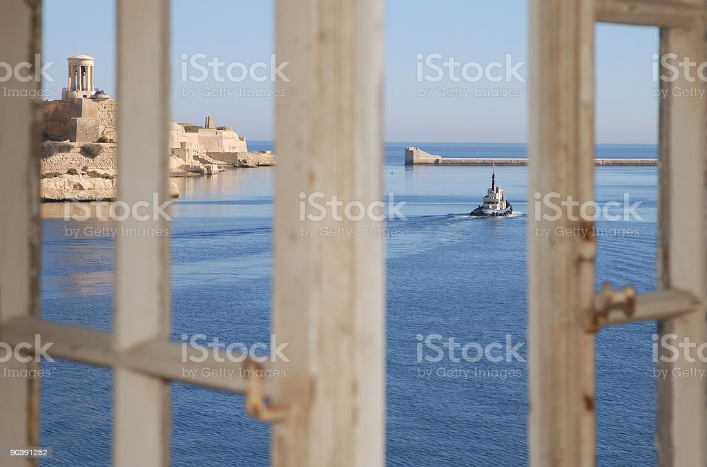 Mediterranean Window View stock photo