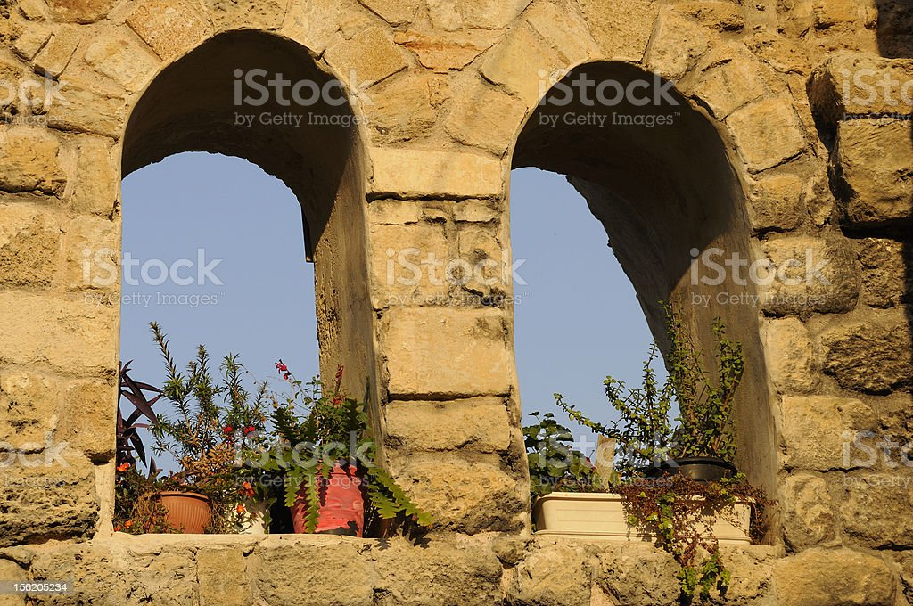 Mediterranean Windows royalty-free stock photo