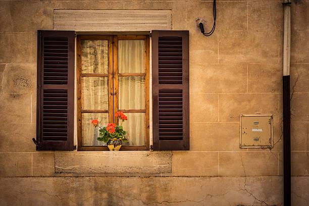 Mediterriean window stock photo