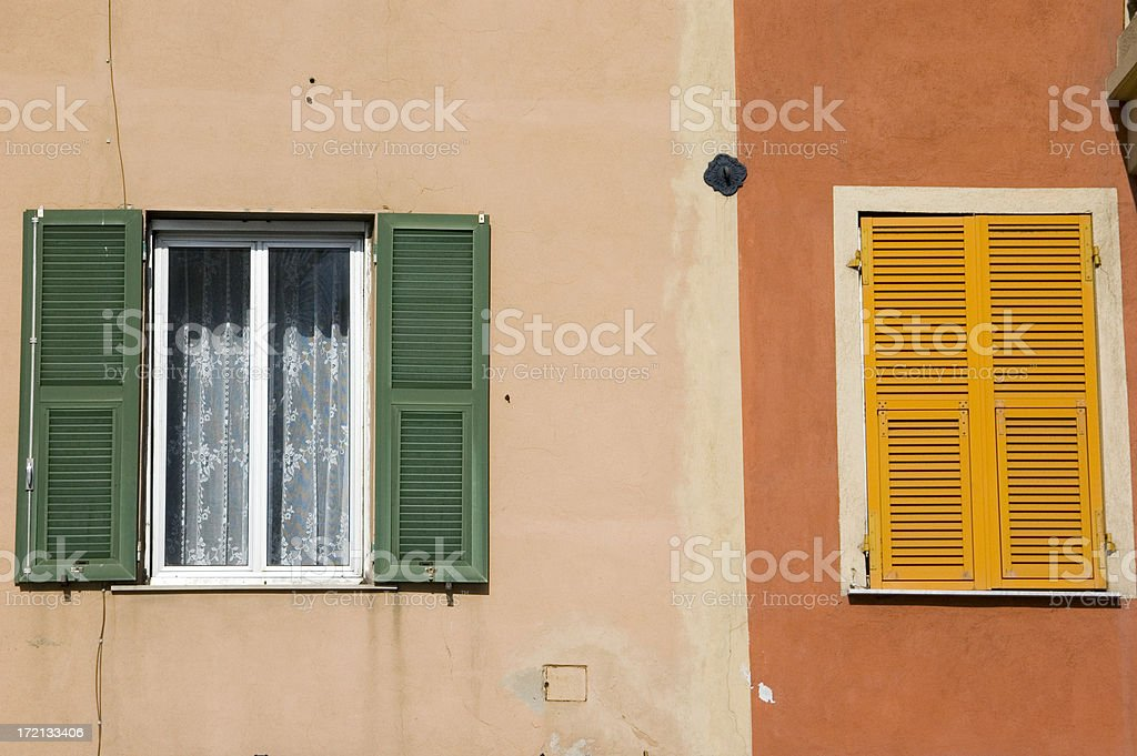 Meditteranean windows and shutters royalty-free stock photo