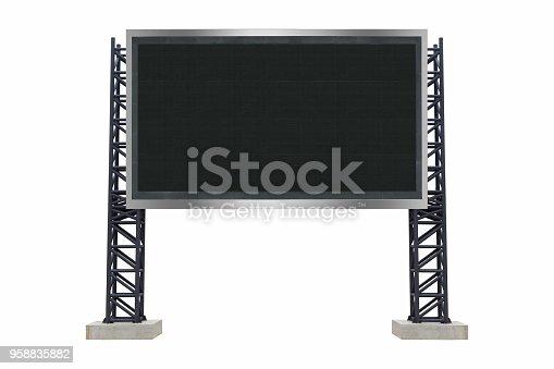 istock Medium center scoreboard stadium isolated on white background. use clipping path 958835882