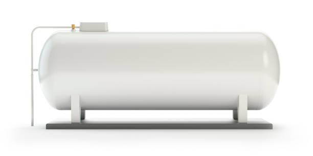 mittlerer gastank, industrieversion - benzintank stock-fotos und bilder