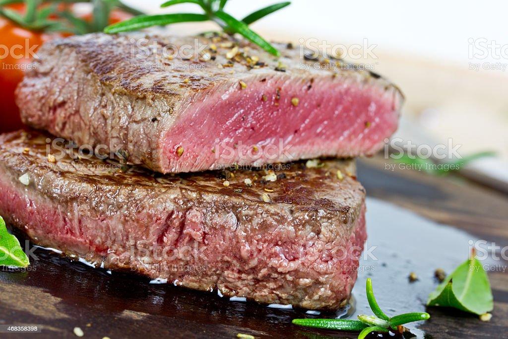 medium grilled steak royalty-free stock photo
