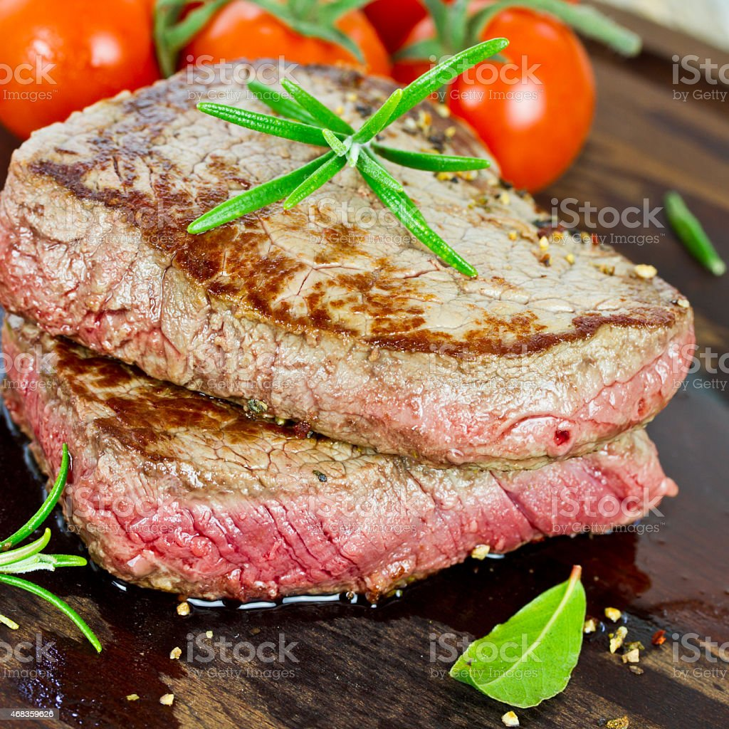 medium grilled steak royalty-free stock photo