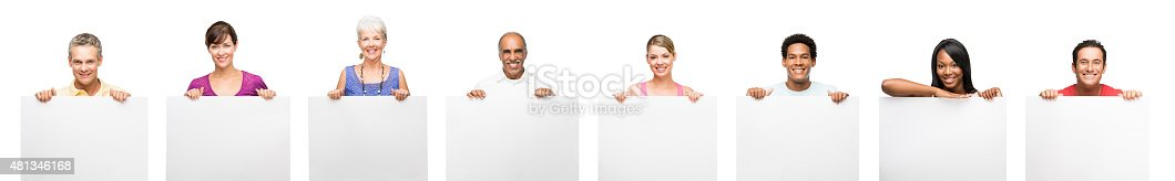 istock Medium group of people showing placard 481346168