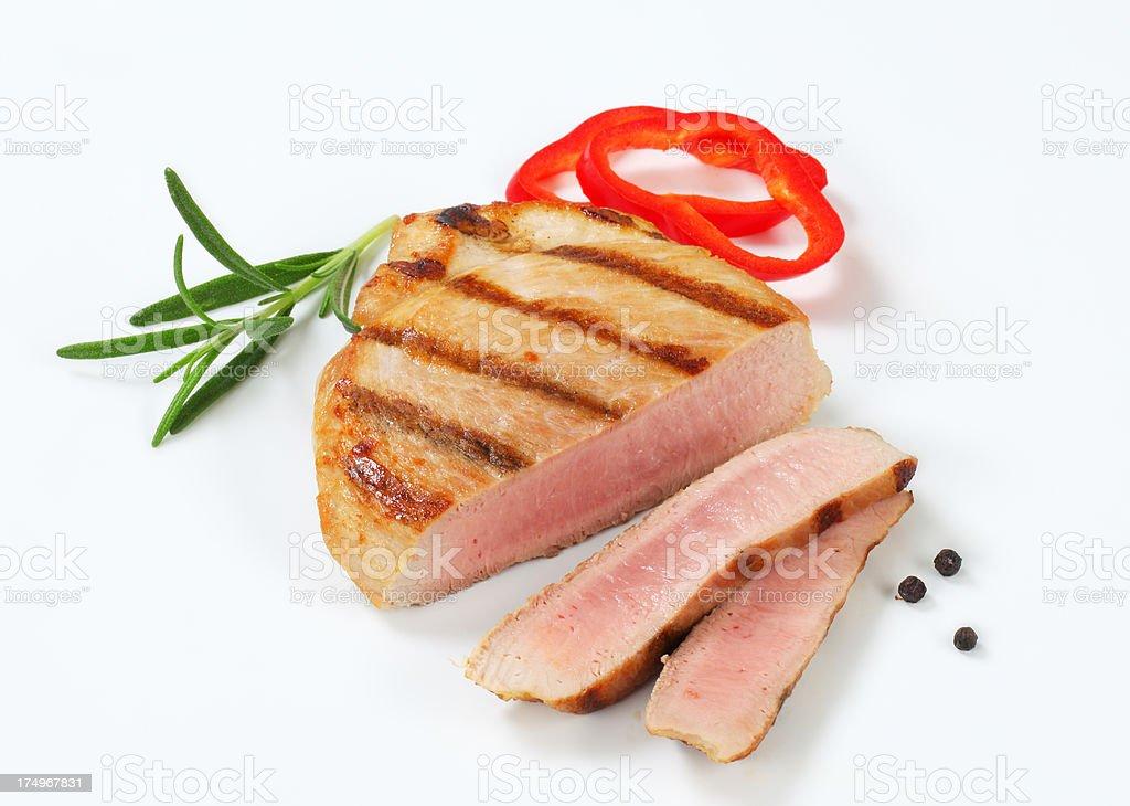 medium pork steak with spices royalty-free stock photo