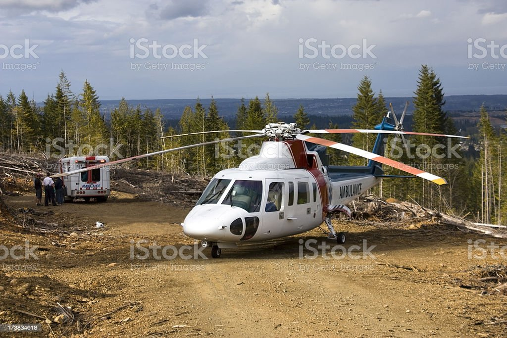 Medivac Helicopter stock photo